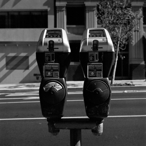 Twin Parking Meters