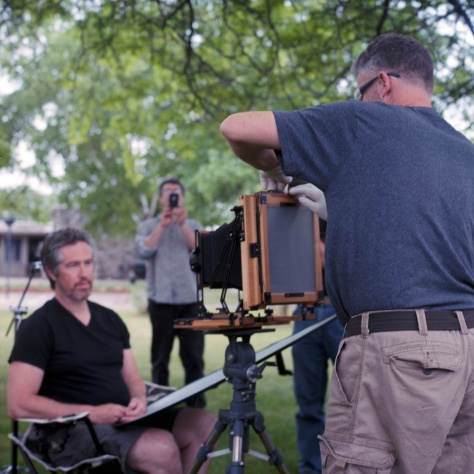 Andrew Moxom Making a Wet Plate Portrait