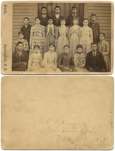 Native American School Group, Springfield, South Dakota