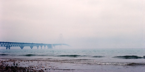 Mackinac Bridge, Morning Fog