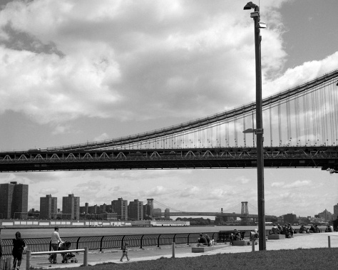 DUMBO, the Manhattan Bridge and the Williamsburg Bridge