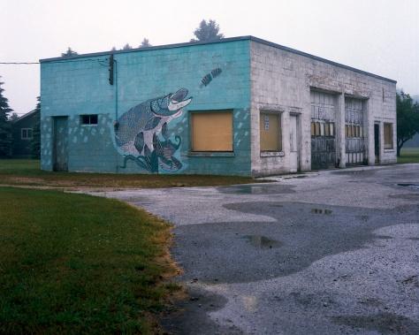 Muskie Mural, Garage, Legs Inn