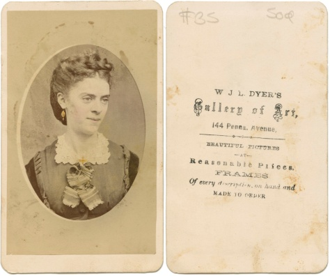Hand-colored CDV by WJL Dyer