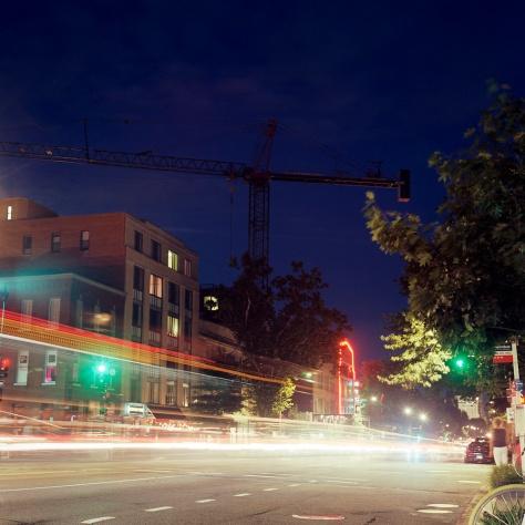 Crane, 14th Street, Twilight