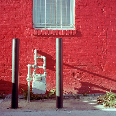 Gas Meter, Red Wall, V Street