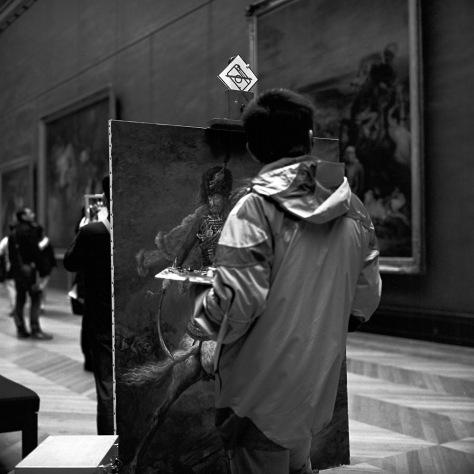 Copyist, Louvre