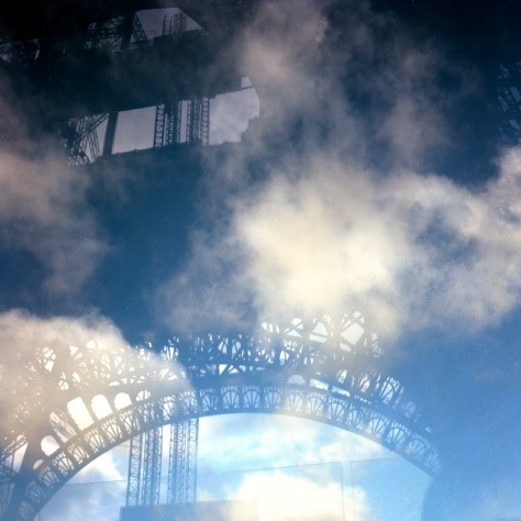 Eiffel Tower Shadow, Clouds