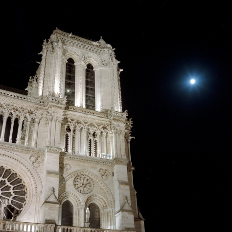 Notre Dame, Tower, Full Moon