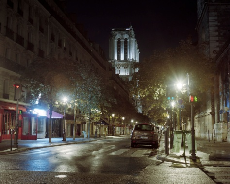 Notre Dame, Side Street, Night