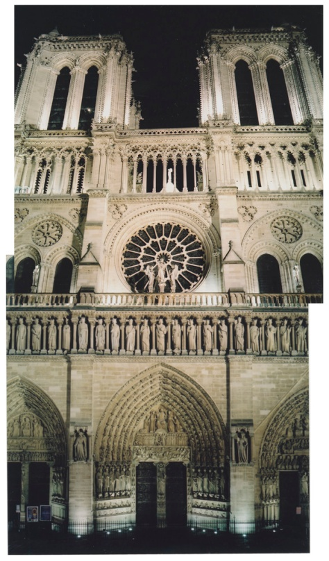 Diptych, Notre Dame Facade, Night