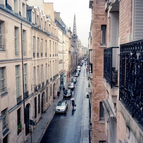 Rue St. Louis in the Rain