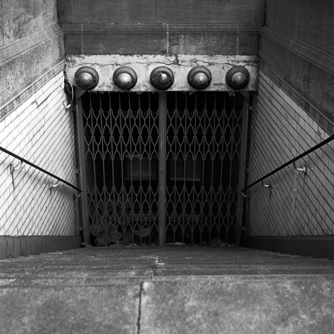 Abandoned Subway Entrance, Palais de Justice