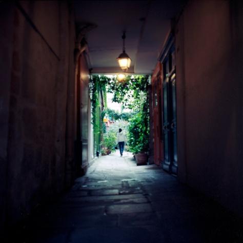 Girl, Courtyard, Marais
