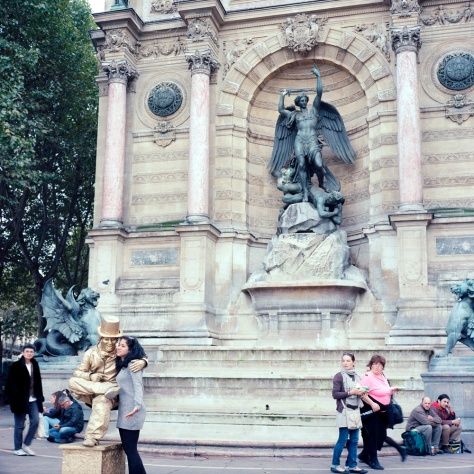 Human Statue, St. Michel Fountain