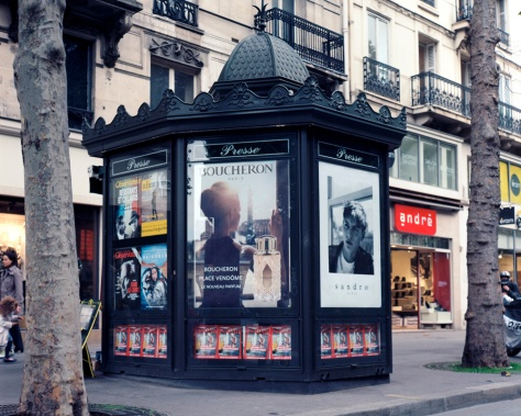 Newsstand, Boulevard St. Michel, Paris