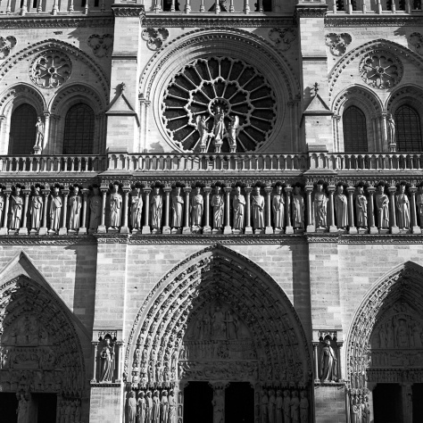 Notre Dame Facade, Afternoon