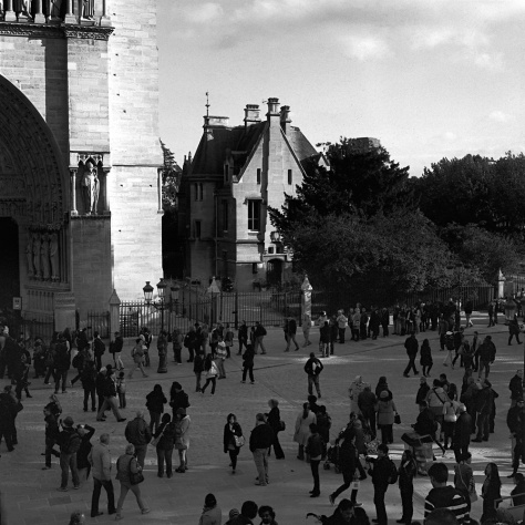 Crowds, Square, Notre Dame