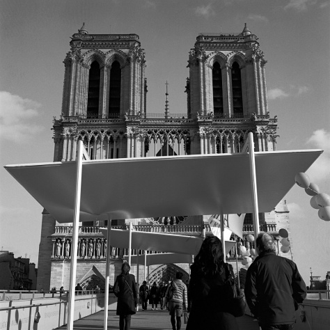 Notre Dame Towers, from Ramp