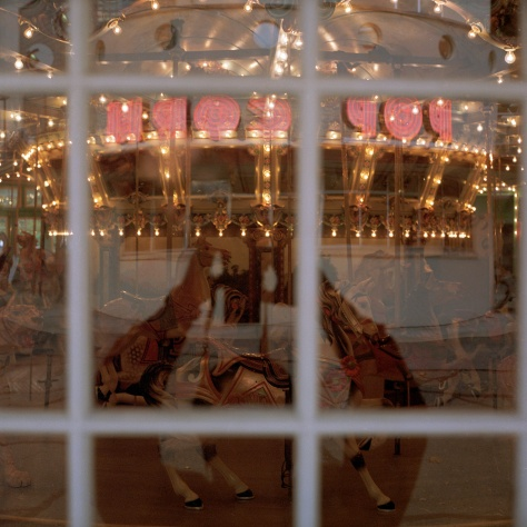 Glen Echo Carousel, Neon, Reflections