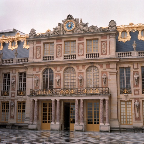 Entrance Facade, Versailles, After the Rain