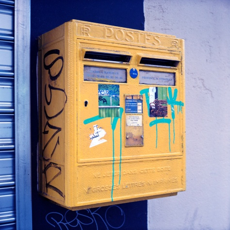 Yellow Postbox, Paris