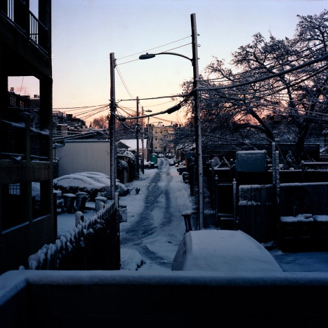 Sunrise, Snow, My Alley