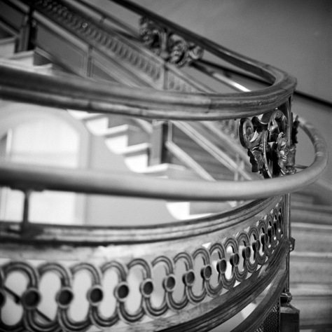 Rail, Staircase, National Portrait Gallery