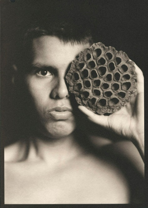 Portrait with Lotus Seed Pod