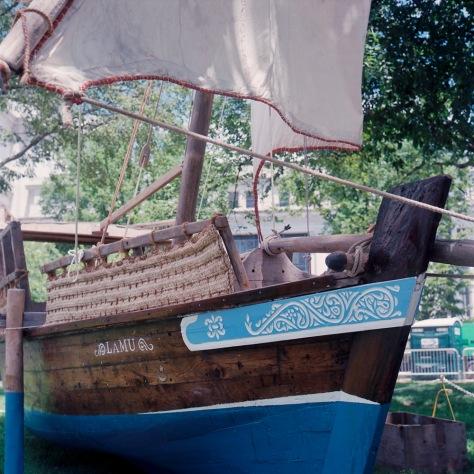 Kenyan Boat, Folklife Festival, Side View