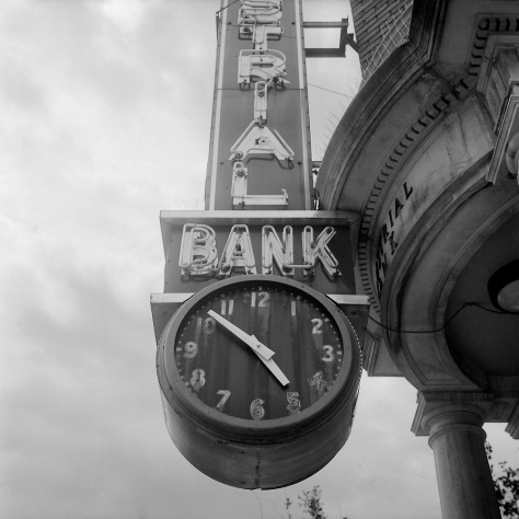 Industrial Bank Clock, 5pm
