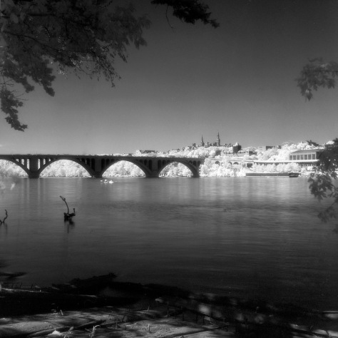 Key Bridge, Georgetown, Kayakers