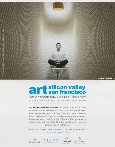 Art In America, September 2014 - Art SV/SF Art Fair Ad
