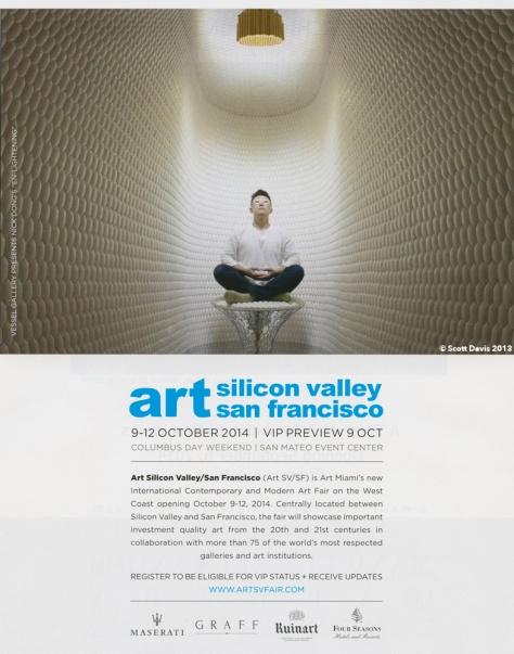 Art In America, September 2014 - Art SV/SF Art Fair Ad