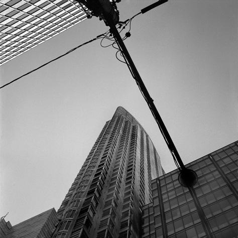Streetlamp and Skyscraper