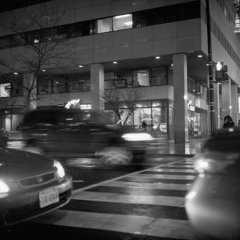 Street Crossing, Rain