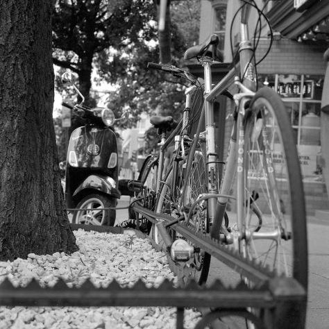 Bikes, Planter Box, Scooter
