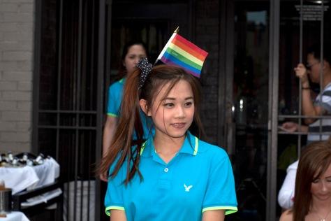 Rainbow Waitress