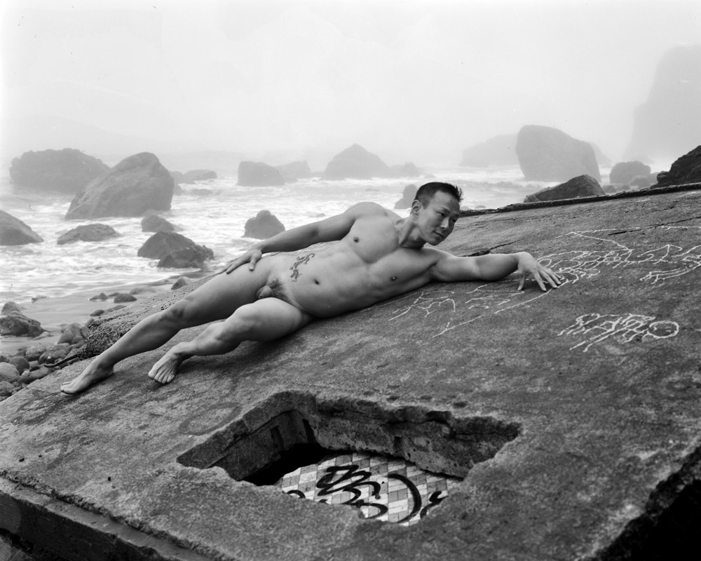 K.T., Reclining, Wall, Surf