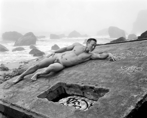 K.T., Reclining, Wall, Surf