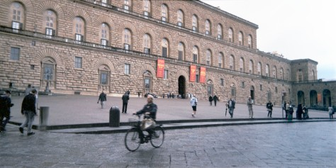 Cyclist, Pitti Palace
