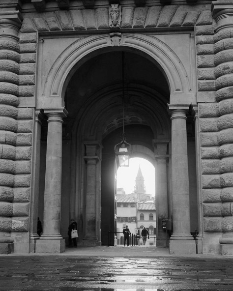 Entrance, Palazzo Pitti in the Rain
