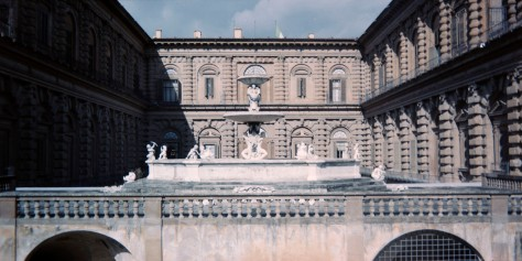 Pitti Palace, from the Boboli Gardens