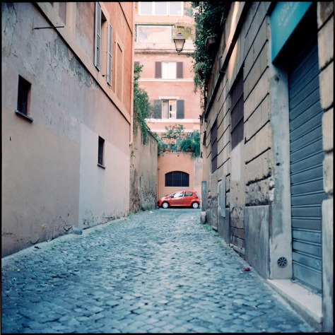 Red Car, Alley, Trastevere