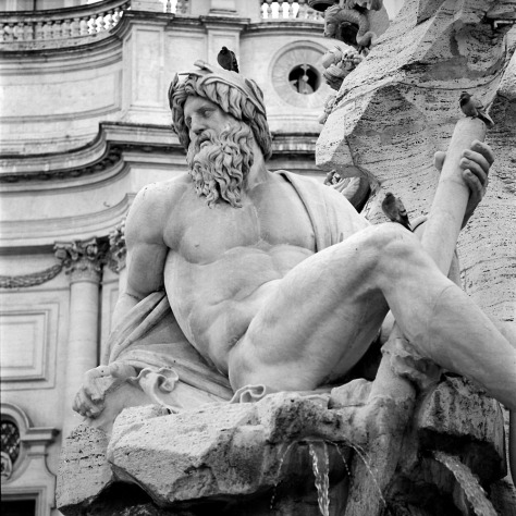 River God, Four Rivers Fountain, Piazza Navona