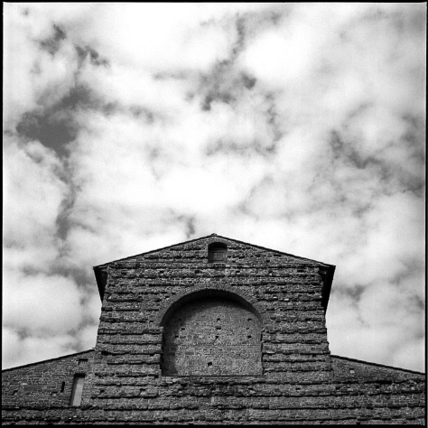 San Lorenzo Facade, Clouds, Florence