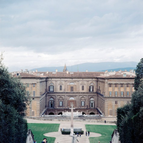 Selfie, Palazzo Pitti, from the Boboli Gardens
