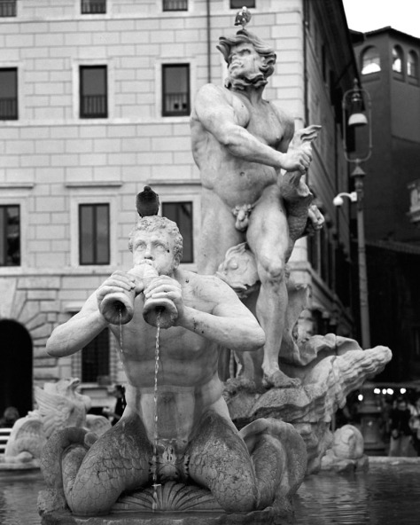 Trumpeting Merman, Fountain, Piazza Navona