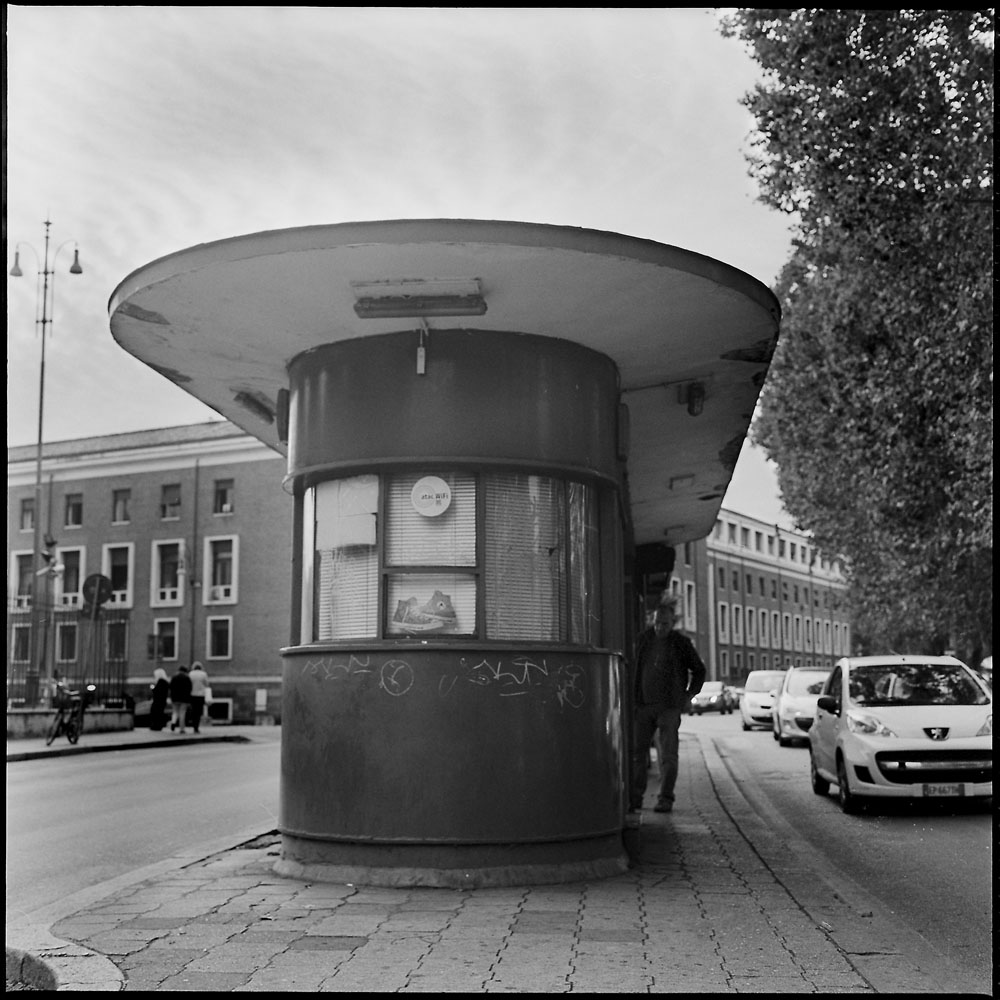 Vintage Bus Shelter, Rome