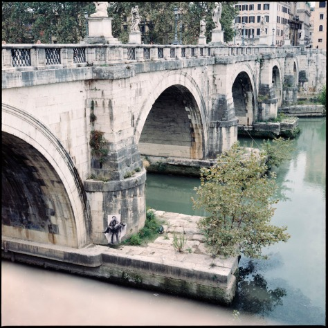 Angel Bridge Footings, Tiber River