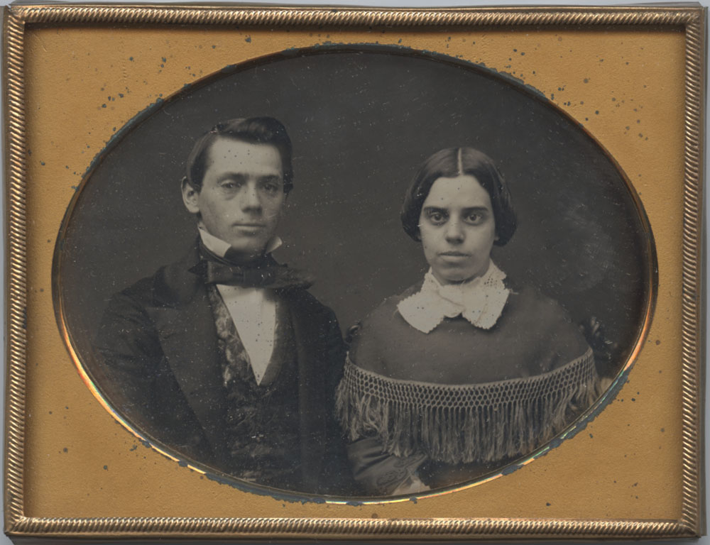 Anonymous Couple, 1/4 plate Daguerreotype